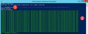 Screenshot zum Import von Modulen in der PowerShell