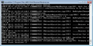 Citrix Receiver Debug Modus Live Feed