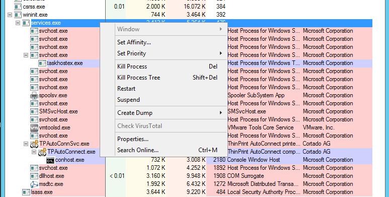 Microsoft-SysInternals-Process-Explorer-process-actions