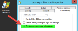 Microsoft SysInternals Process Explorer im Administratorkontext starten