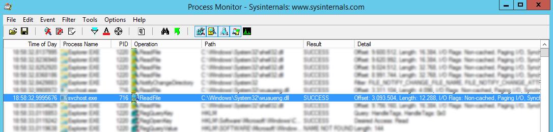 Microsoft SysInternals Process Monitor Event untersuchen