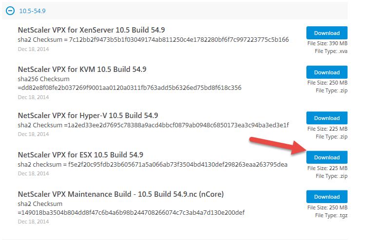 NetScaler-VPX-Express-for-ESX-Download