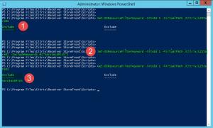Citrix Storefront Konfigurationsfenster mit der PowerShell.