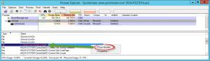 Close Handle Dialog im Microsoft SysInternals Process Explorer